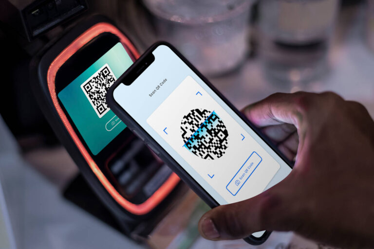 Contactless and cashless payment through qr code and mobile bank